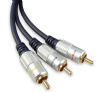 10m 3 x Phono to 3 x Phono Lead (RCA) - Audio and Video Premium Cable